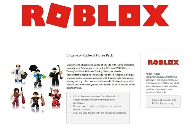 Buyer Central Roblox Action Figures (Citizens of Roblox - Set of 6) NO CODE!