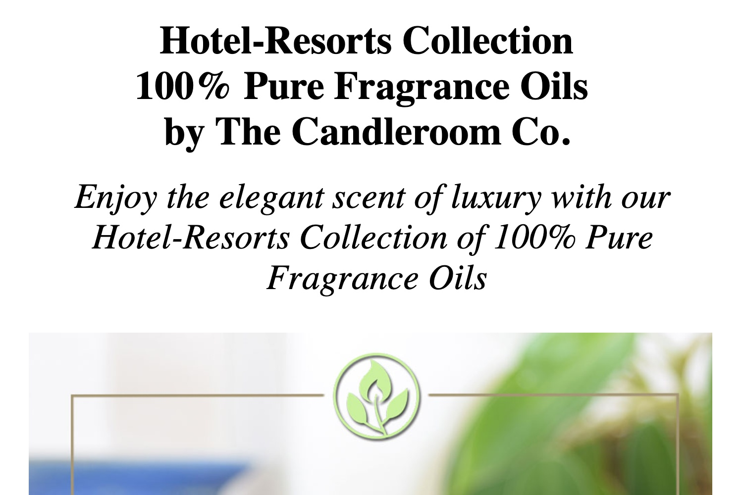 Hotel-Resorts Series - 100% Pure Fragrance Oil Collection 10mL by The  Candleroom Co