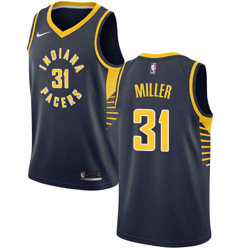 aa72f8a5e29 Product details of Reggie Miller Authentic Women's Jersey - NBA Indiana  Pacers #31 Navy Blue Road Icon Edition