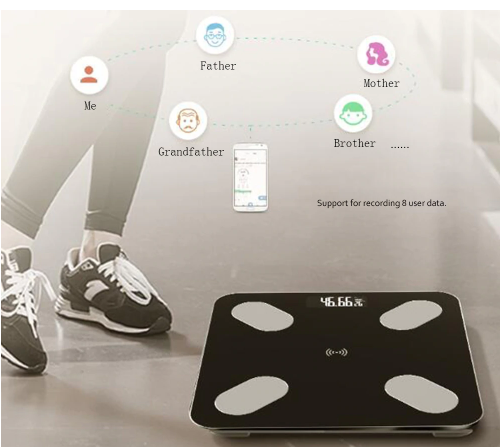 Portable Home Body Index Electronic Smart Weighing Scales Bathroom Body Fat  bmi Scale Digital Human Weight Mi Scales Floor Lcd display