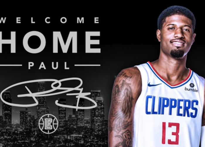 best service afe9a b4942 Paul George L.A Clippers NBA Jersey
