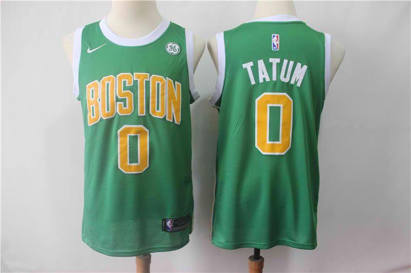 buy online 5eb3b 37832 Boston Celtics #0 Jayson Tatum Jersey 2018 19 New Season City Edition White  or Green or purple Jersey