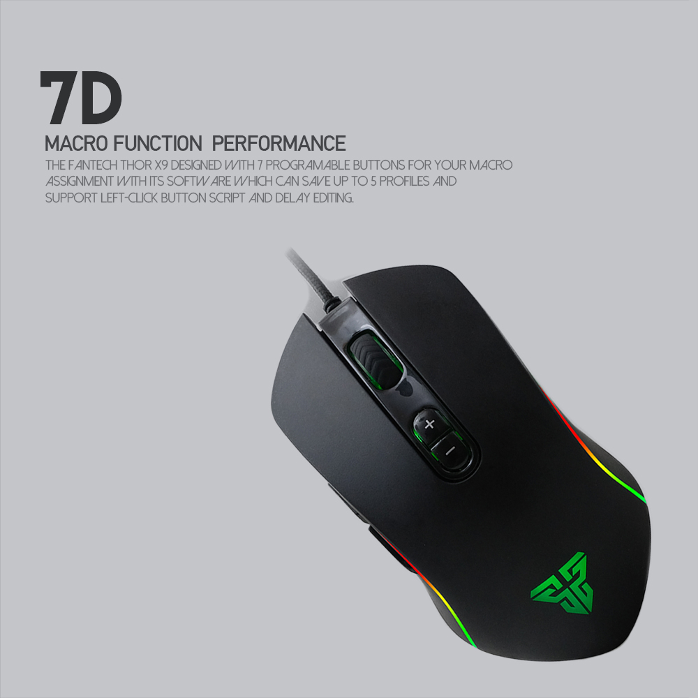 ORIGINAL FANTECH X9 Macro RGB Gaming Mouse ideal for gaming personal use  and internet cafe
