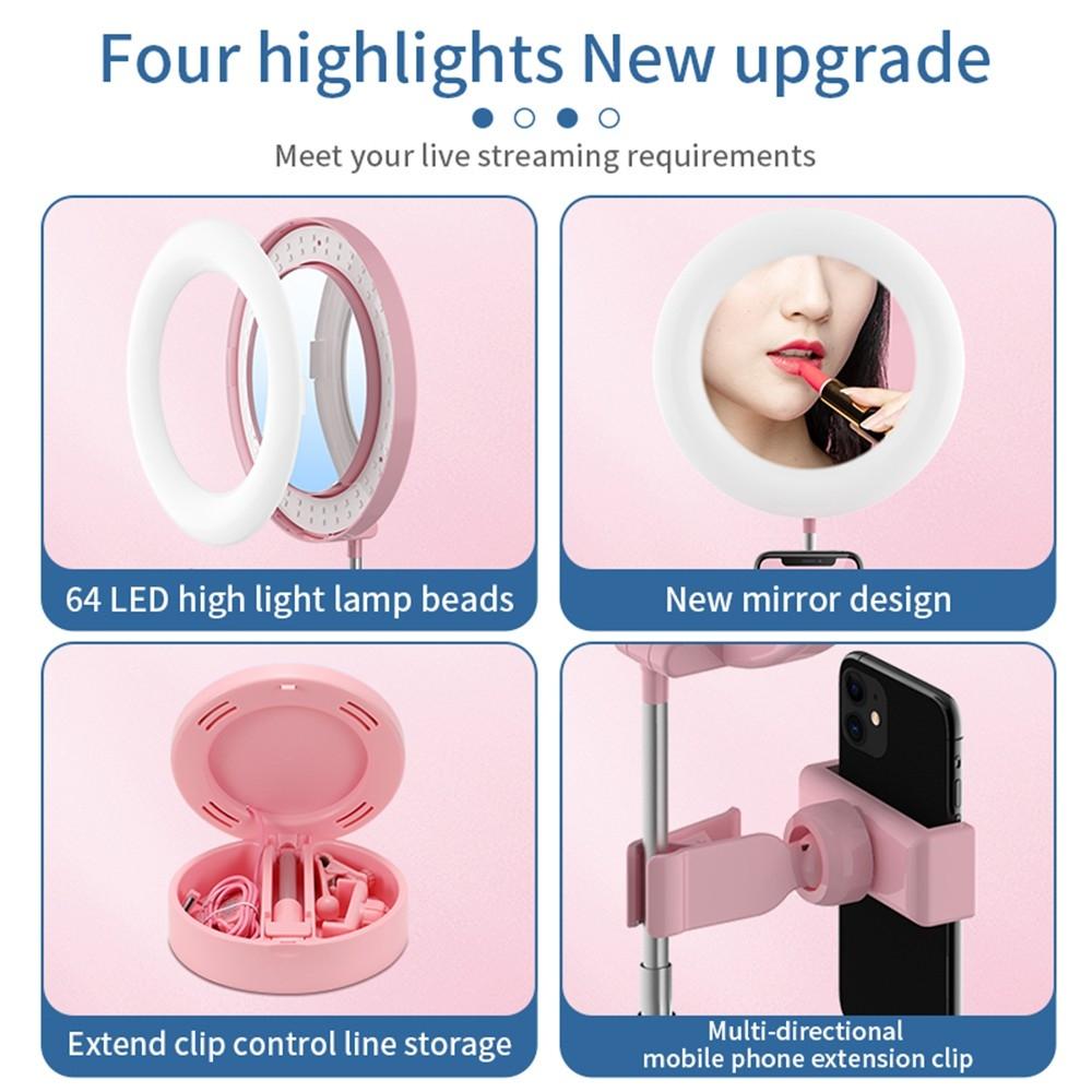 Fantasy MAI APPEARANCE G3 3 In 1 Dimmable LED Ring Light 6 Inch Folding Desktop Selfie Light Mirror Lamp for YouTube Tiktok Live Streaming or Makeup WHITE | Lazada PH
