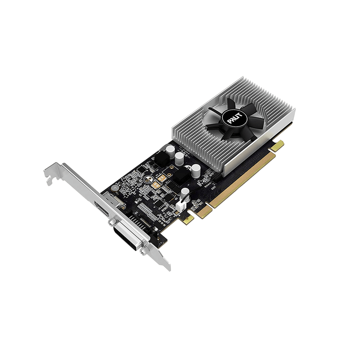 Palit GeForce GT1030 Videocard 2gb-64bit ddr5, for High Settings Gaming  Experience, for Office multi tasking, for AUTOCAD and ADOBE softwares,  Built