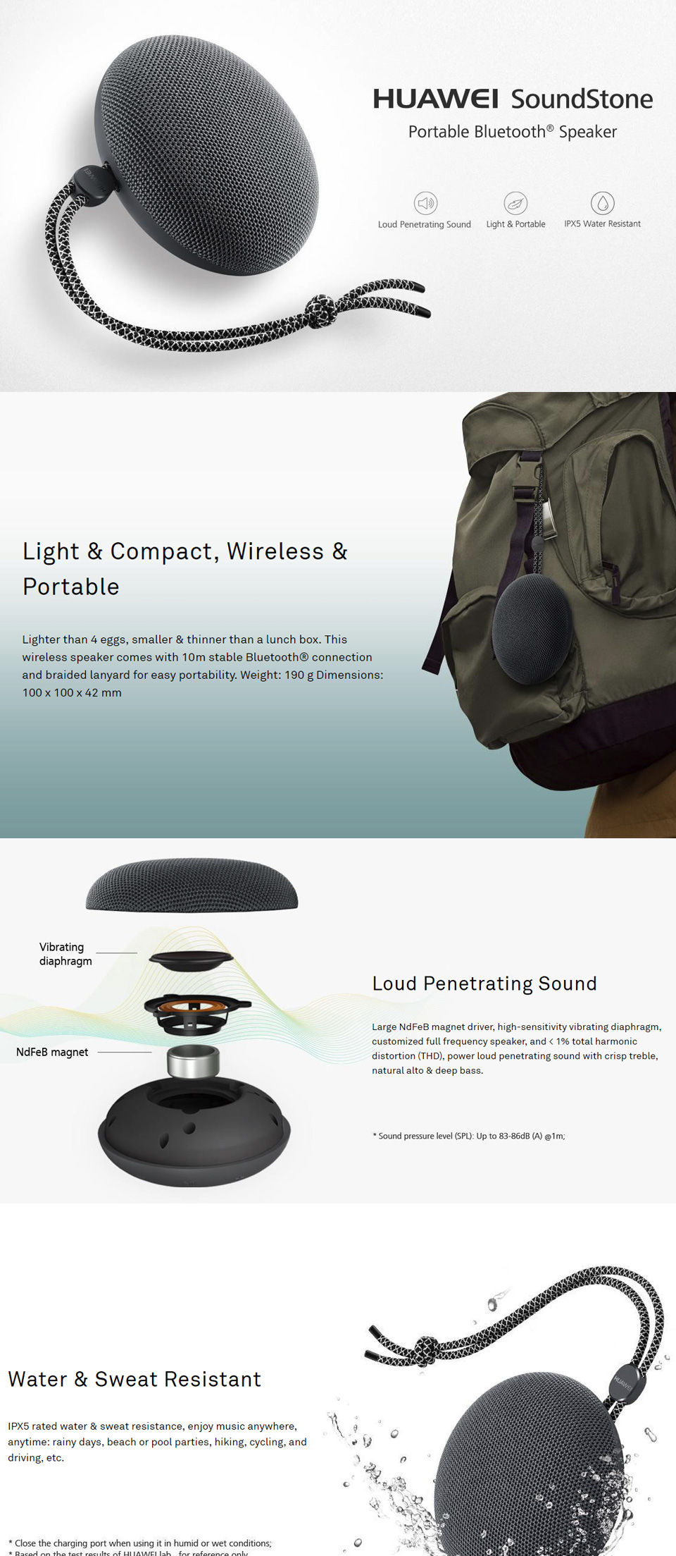 HUAWEI CM51 Mini Portable Bluetooth Speaker