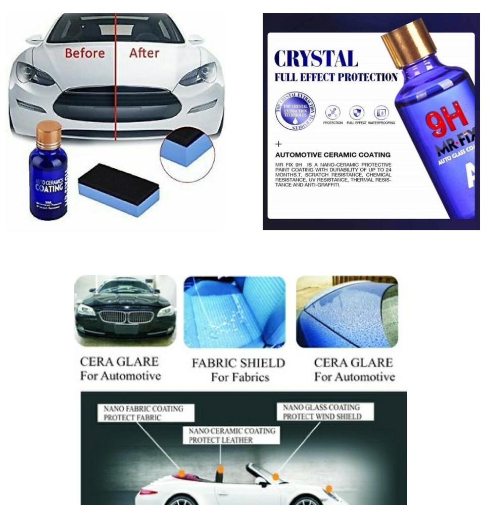 Car Motorcycle Polish Liquid Ceramic Coating MR Fix 9H Nano Crystalline  Plating Non-Flammable