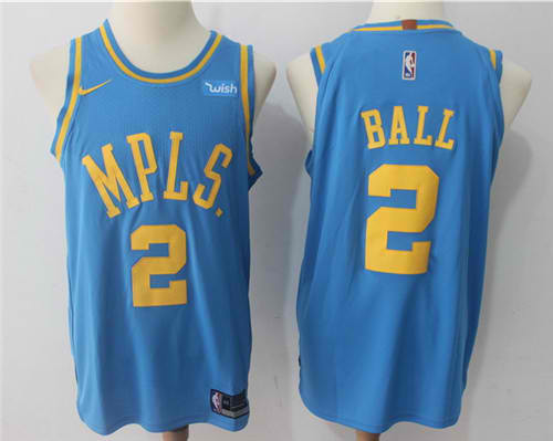 more photos 8fbd2 b51d6 Men 2 Lonzo Ball Jersey Blue Los Angeles Lakers MPLS Fanatics