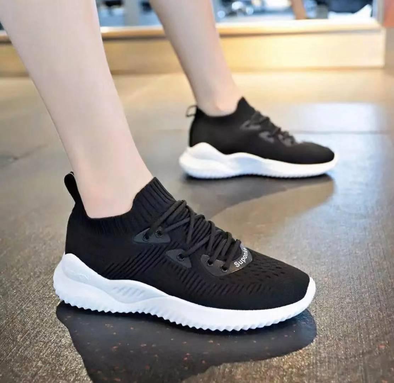 white Korean Running rubber shoes