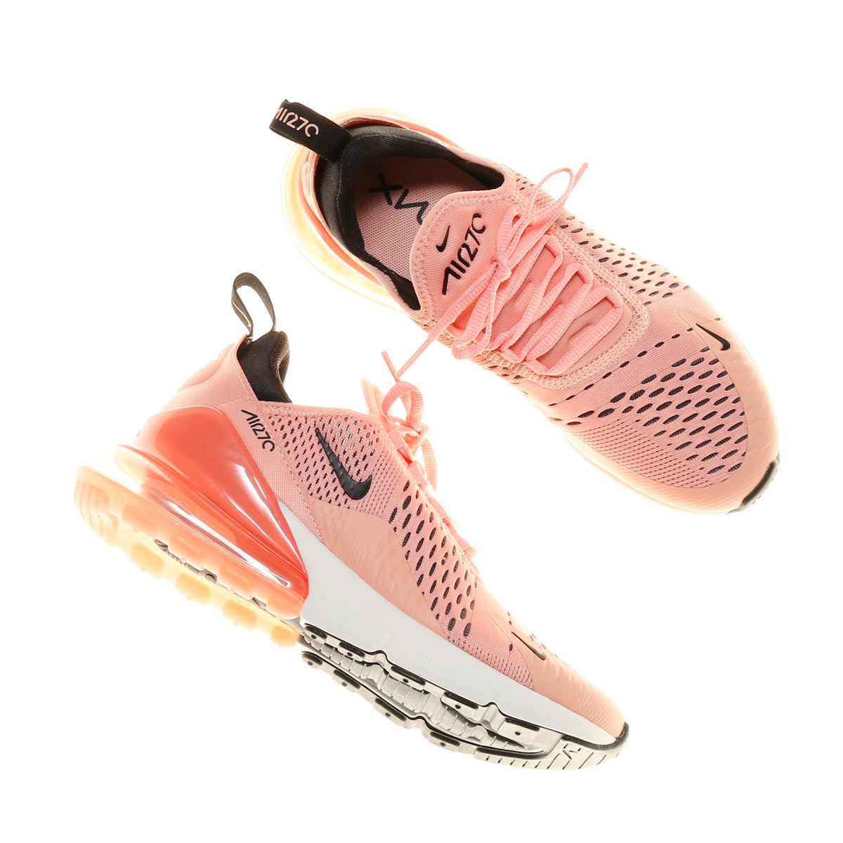 new concept 34a04 5b7e9 Air Max 270 Coral Stardust Pink/Black Summit White Running Shoes for woman  with box and paperbag