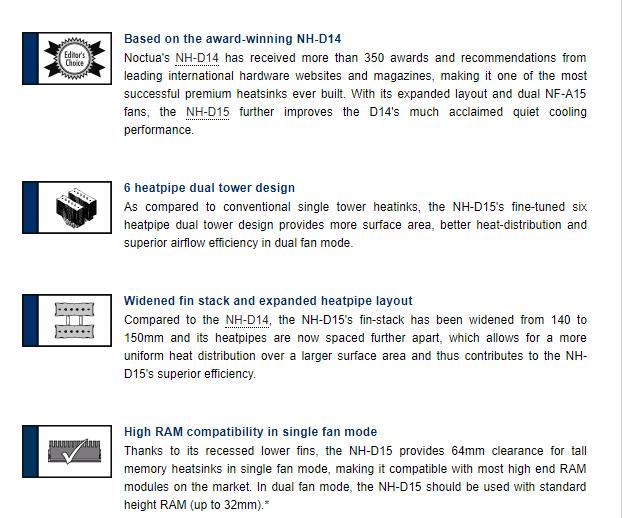 Noctua NH-D15 CPU cooler amd/intel