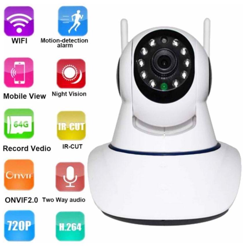 CCTV WIFI IP Camera YY2P APP-X5-2 Dual Antenna Smart Home CCTV ( White)
