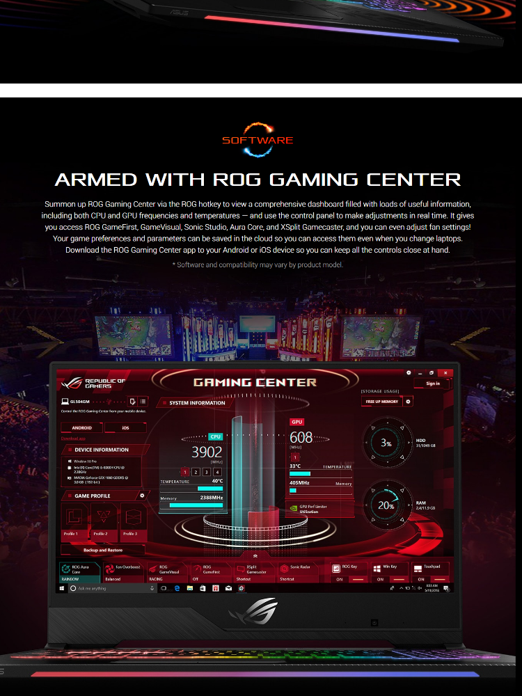 Asus ROG Strix Hero II GL504GM-ES339T 15 6