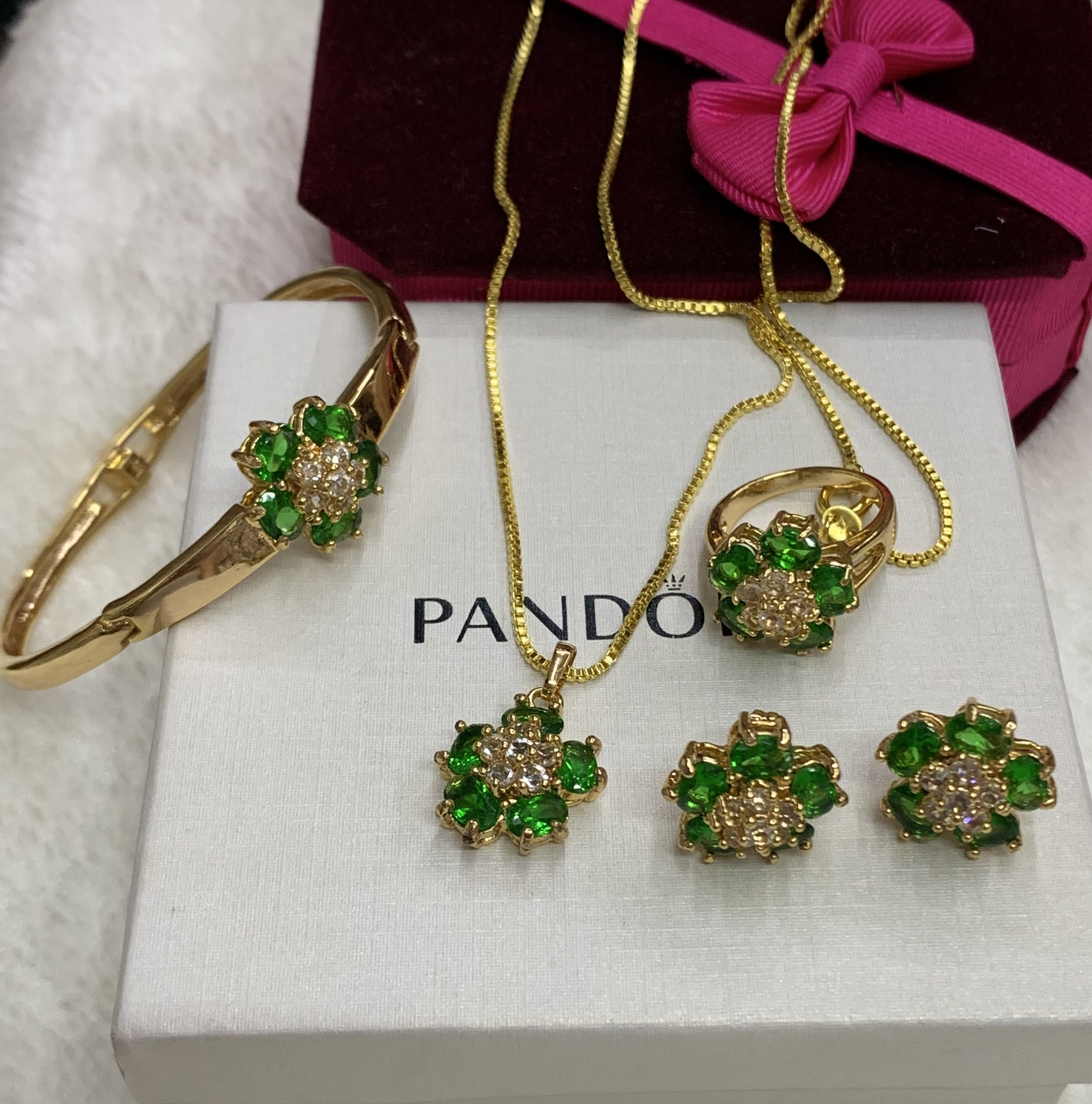 253493c253 Specifications of Bangkok 18K Goldmix Jewellery sets w/ emerald and  Swarovski Stones. Brand. SAVE AND SHOP