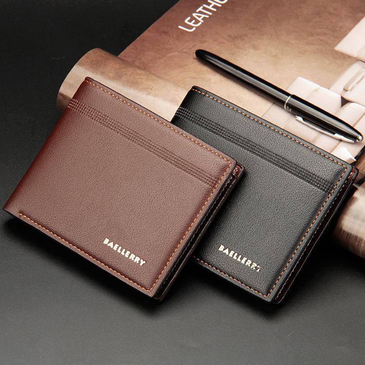 e06a092768 Baellerry Vintage Men PU Leather Short Wallet Money Cash Purse Business  Billfold Pocket Credit Card Holder Cover