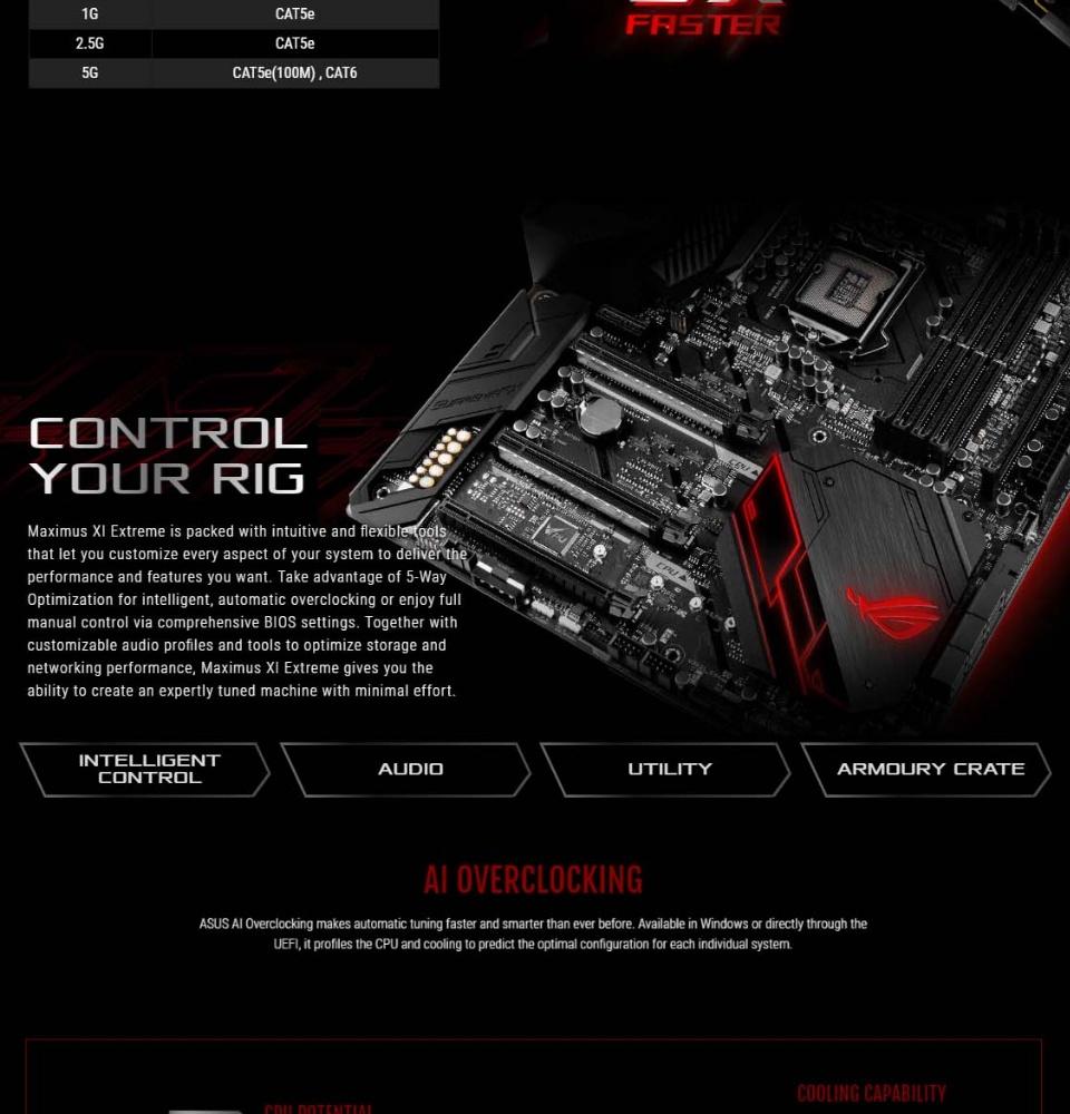 ASUS ROG MAXIMUS XI EXTREME Intel Z390 EATX gaming motherboard with  802 11ac Wi-Fi, ROG DIMM 2 dual M 2 expansion card, Aura Sync RGB LED, DDR4