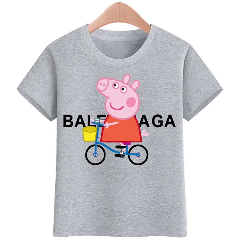 6c443a59 Specifications of Tshirt for kids Peppa Pig Bike T-shirt Girls Cartoon  Pattern T-shirt Children Summer Short Sleeves 100% Cotton Tee K1922