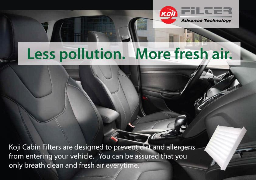 Koji Cabin Air Filter Element Cabin Filter Hr 9801 For Honda City