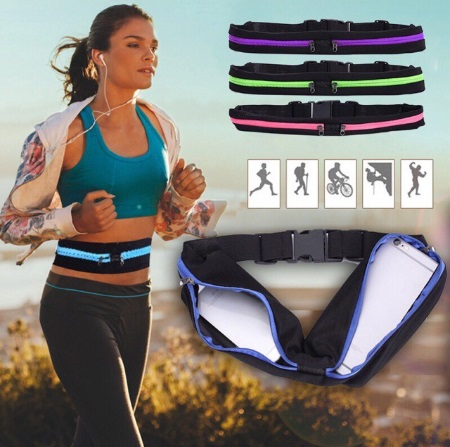Waist Purse Love PAW Unisex Outdoor Sports Pouch Fitness Runners Waist Bags