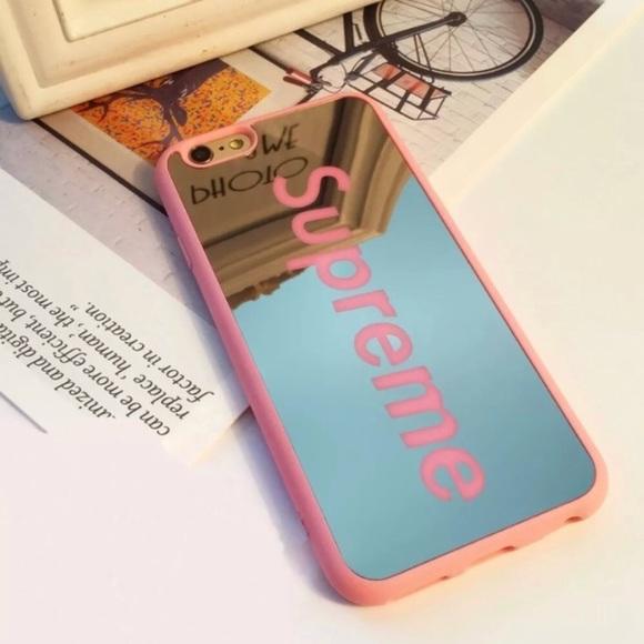 buy online bc740 9e345 Apple iPhone 7 Plus - Supreme Luxury Mirror Design Shockproof Phone Case