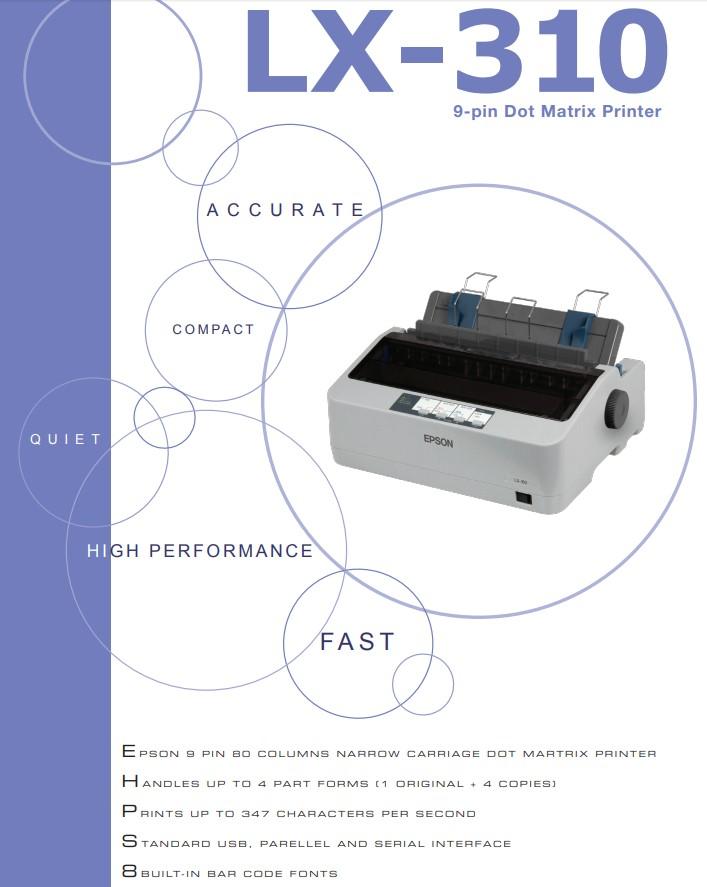 Epson Lx 310 Dot Matrix Printer Free Carbonless Continuous Form Computer Paper 2 Ply Half Size Lazada Ph