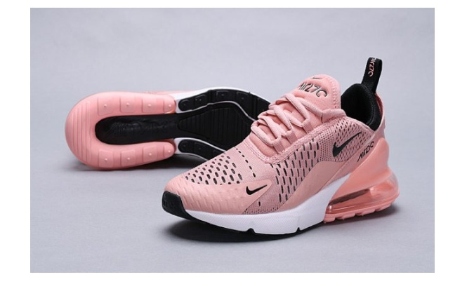 Women's Nike Air Max 270 Coral StardustBlack Summit White AH6789 600 Big Discount