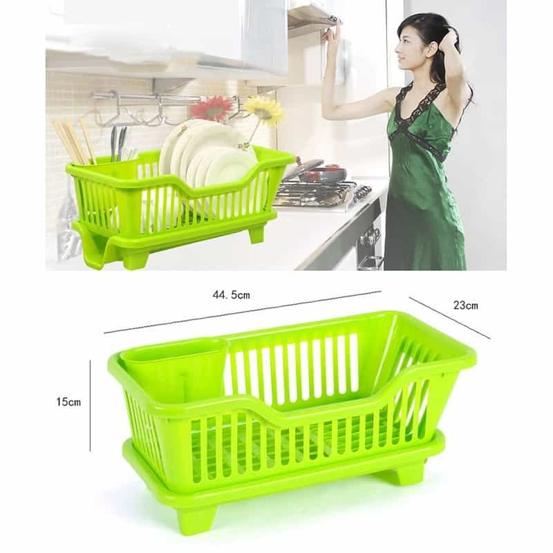 Plastic Dish Drying Rack Drainer