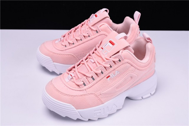 100% Original Fila Disruptor Shoes Pink