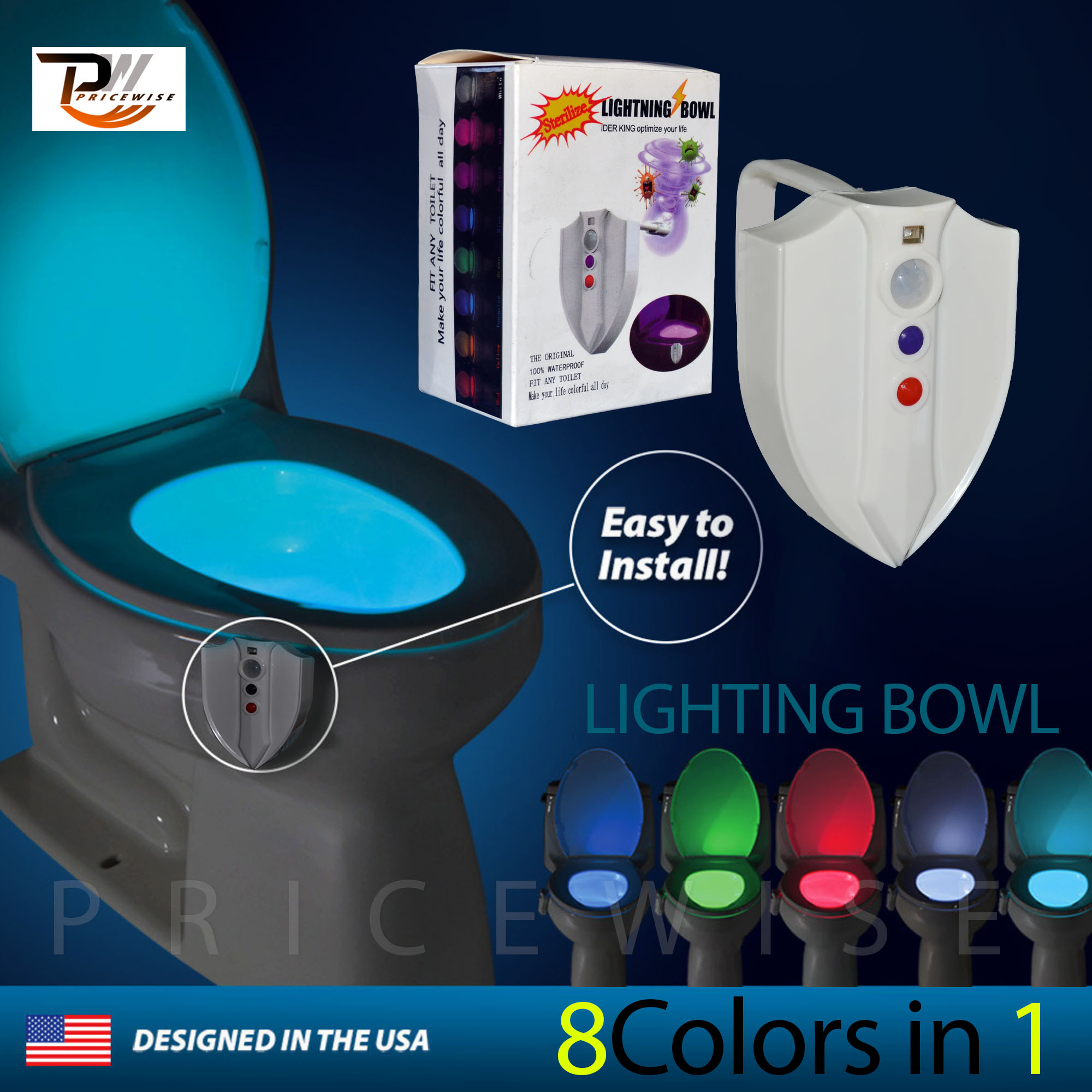 Motion Activated Toilet Bowl