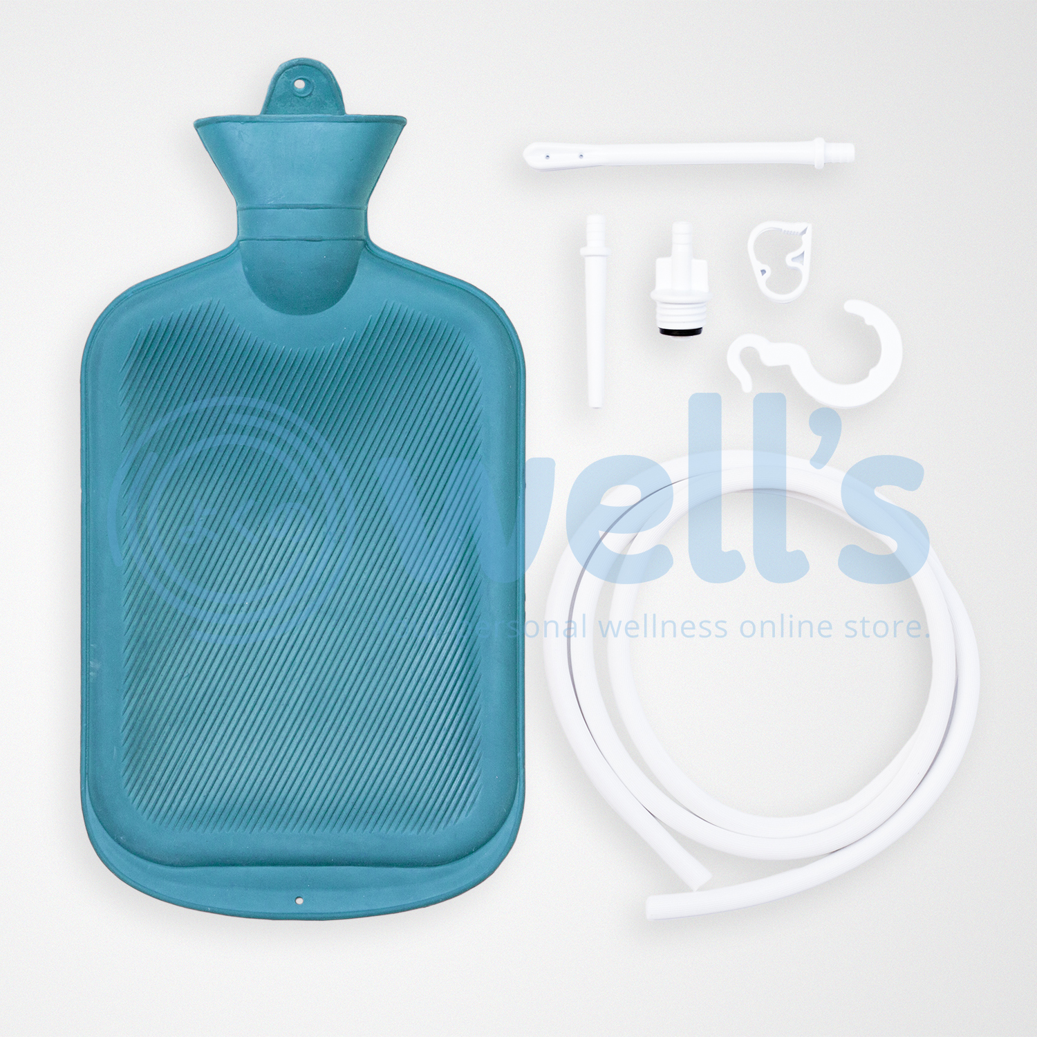 Well S Medical Grade Rubber Latex Douche Enema Kit For Colon Cleansing 2liters