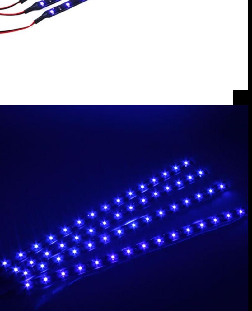4pcs 12V 30CM 15 LED Car Motors Truck Flexible Waterproof Strip Light intl .