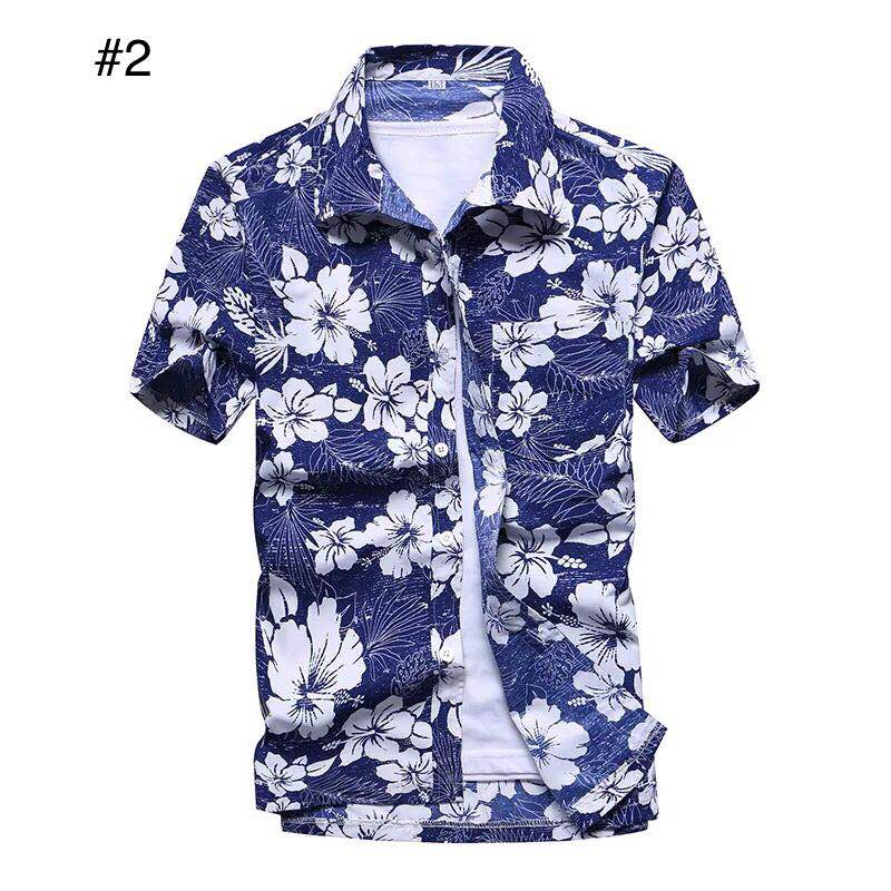 cde07cae Specifications of Mens summer floral Hawaiian polo tshirts top for men  print polo