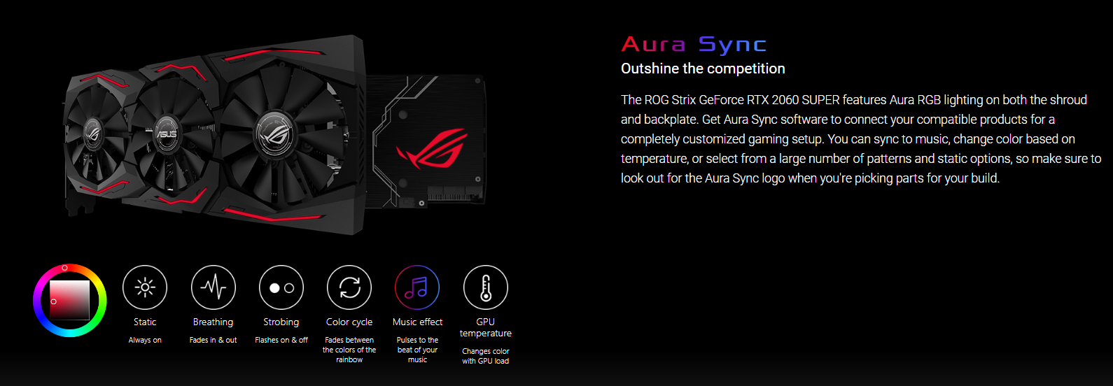ASUS ROG Strix GeForce RTX 2060 SUPER OC edition 8GB GDDR6 Graphics Card