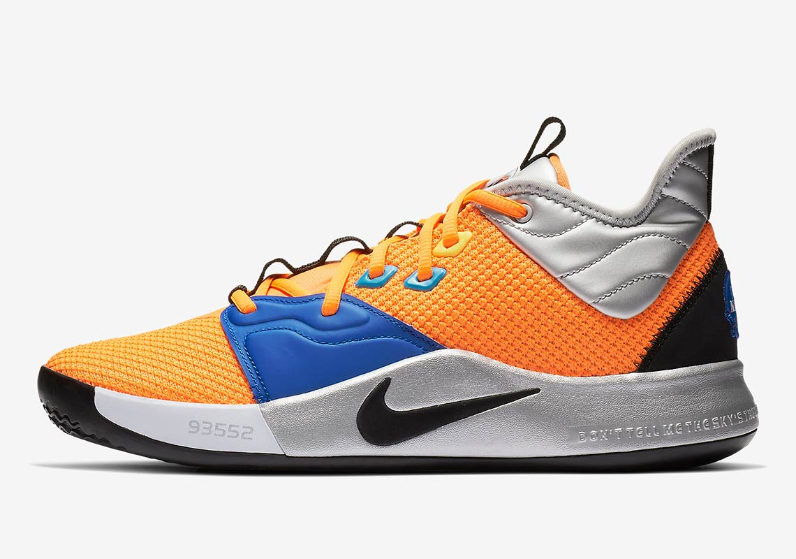 finest selection 1a2fb 2abd1 Nike PG 3 NASA Mens Basketball Shoes Paul George Breathable NBA sneaker  wear-resistant cushioning running shoes