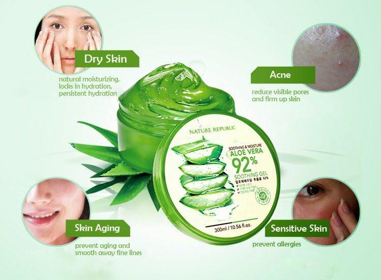 Image result for NATURE REPUBLIC 92% ALOE VERA SOOTHING GEL 300ML