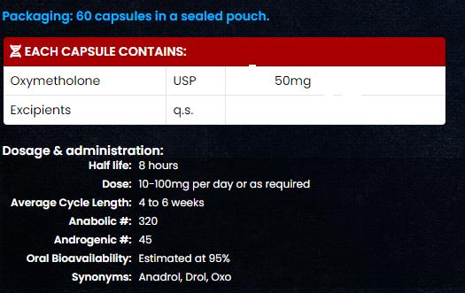 Anadrol 50 mg iv