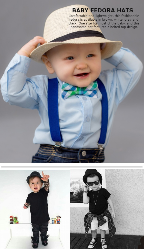 657dfda668d80 Baby and Toddler Bruno Mars Fedora Hats