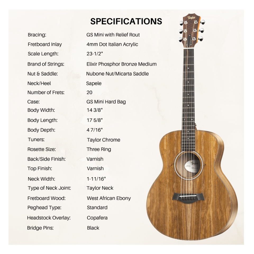 Taylor Gs Mini E Koa Buy Sell Online Acoustic Guitars With Cheap Price Lazada Ph