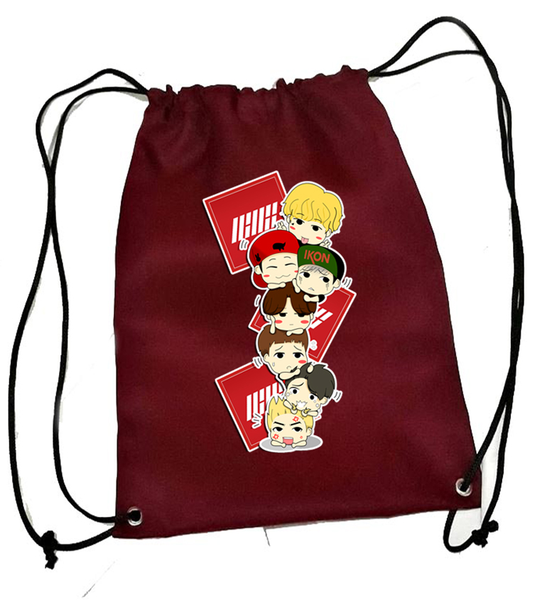 ef4d024a269b Ikon CHIBI String Bag / Ikon School Bag / Ikon Merchs / Ikon Concert Merchs  and Stuff