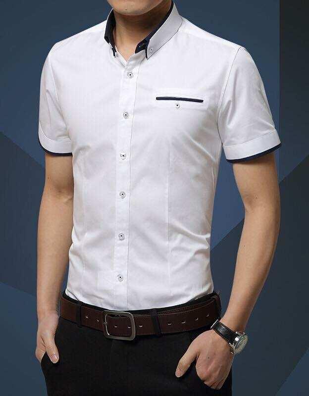 Korean fashion SHORT SLEEVE CASUAL SHIRT FOR MEN for idp shop