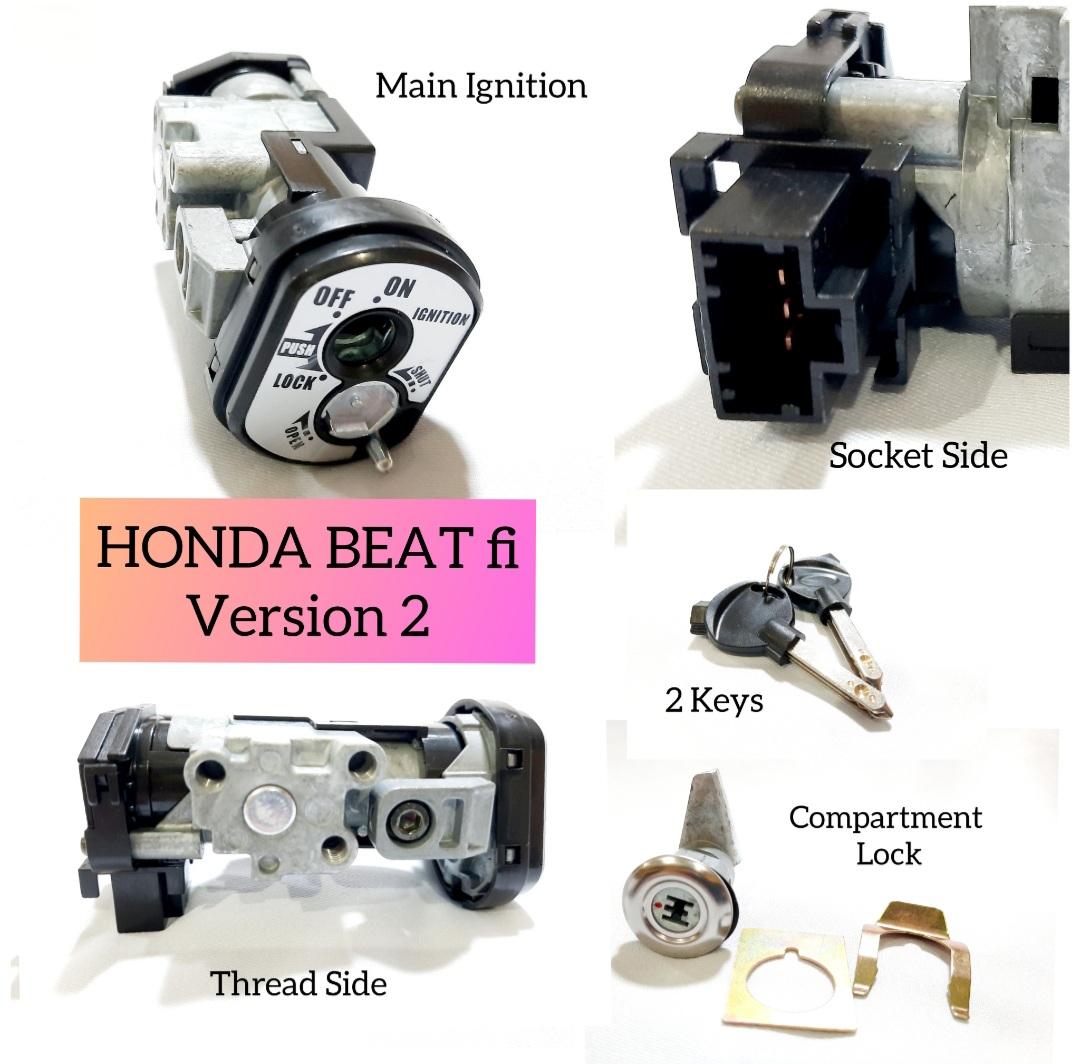 Honda Beat Fi V2 Anti Theft Ignition Key Lazada Ph