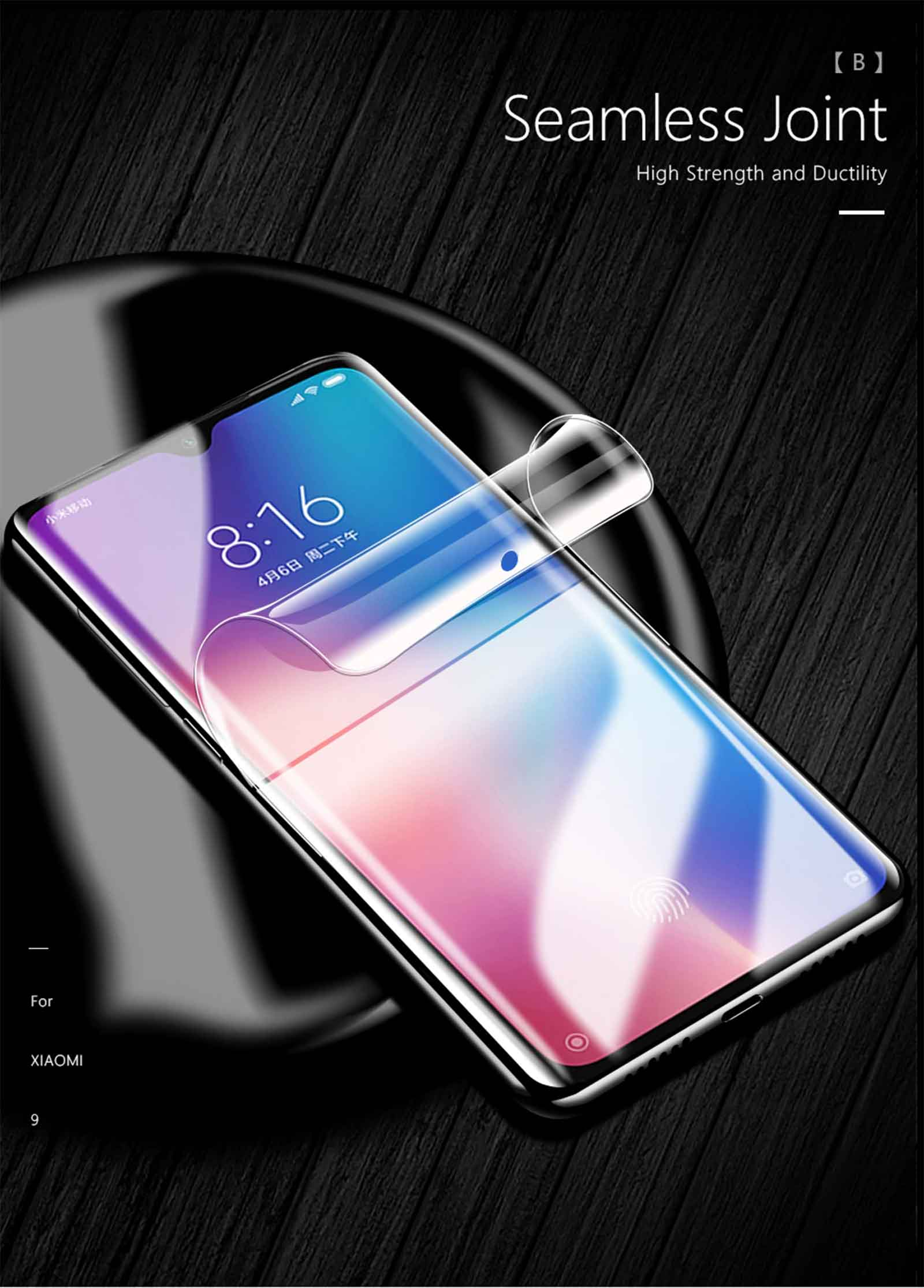 Hydrogel Film Front Full Screen Protector for Xiaomi Mi 9 / Mi 8 ( not  Tempered Glass )