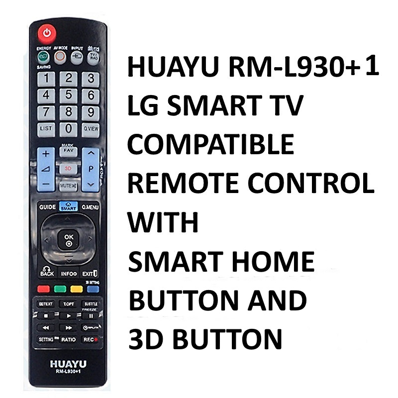 Huayu RM-L930+1 LG Smart TV Compatible Remote Control