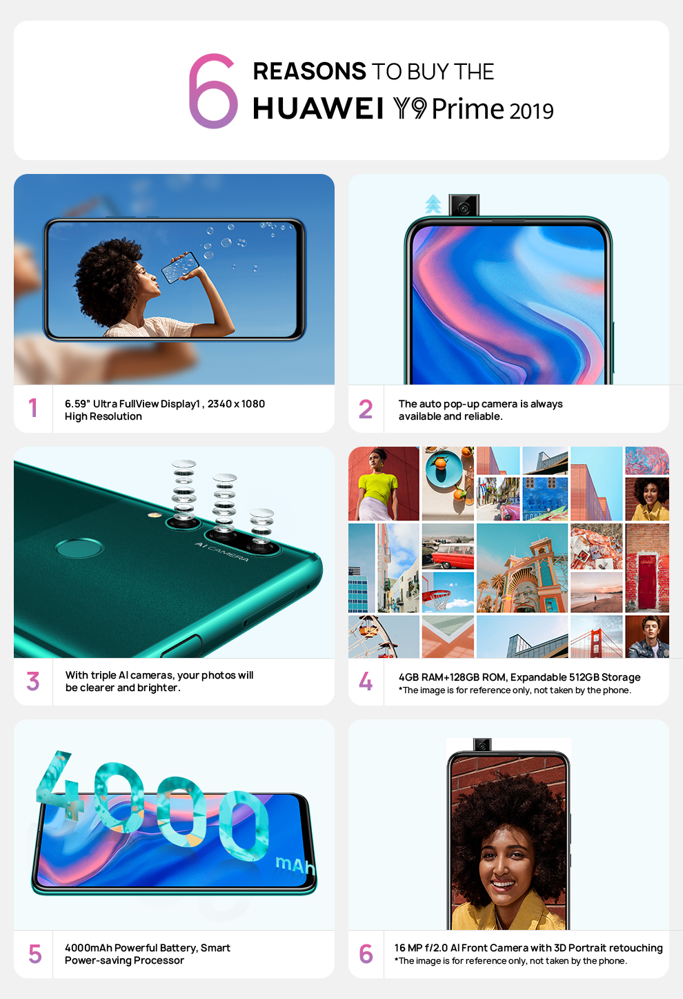 PRE-ORDER Huawei Y9 Prime 2019 128GB ROM 4GB RAM with Free Bluetooth  Speaker and 10,000mah PowerBank