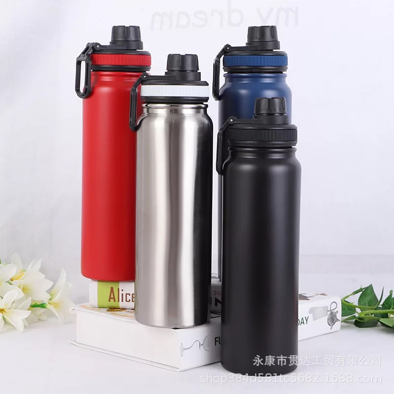 Office And Stainless School Hot Tumbler 800ml Water Thermos Non Insulated Premium Travel Bottle Plain W Cold Sporty Spill Handle OkTiXPZu