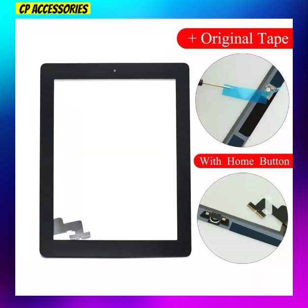 For iPad 2 Touch Screen Glass Digitizer Replace A1395 A1396 A1397 Assembly