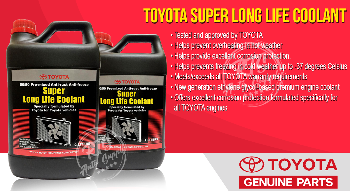 Toyota genuine Super Long Life Pink Coolant 2 Liters