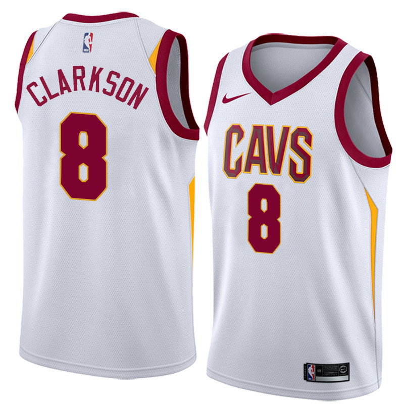 quality design 38921 ad1e8 NBA Cleveland Cavaliers #8 Jordan Clarkson Jersey New Season White Jersey