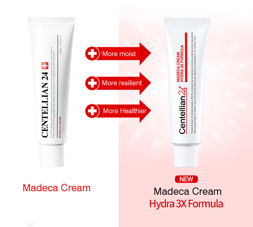 (2018 Season 3 Formula) Centellian 24+ Madeca Derma Cream Hydra 3X Formula  50mL (Season 3: Anti-wrinkle, Anti-Acne, Best Skin)