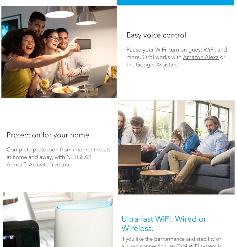 NETGEAR Orbi Whole Home AC300 Tri-band Wifi System (RBK50-100PES)